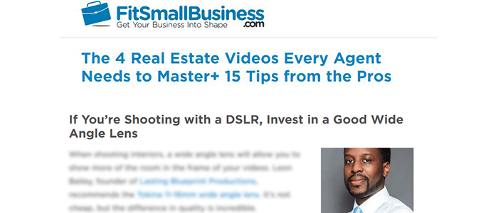 real estate video article featured owner leon bailey 01 - 2016 Video Production Year In Review