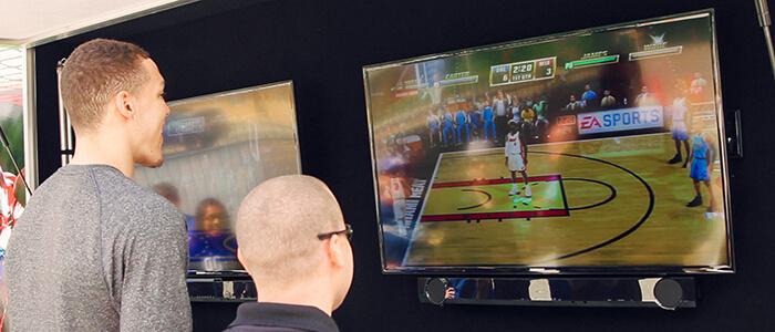 Aaron Gordon of the Orlando Magic playing NBA Jam